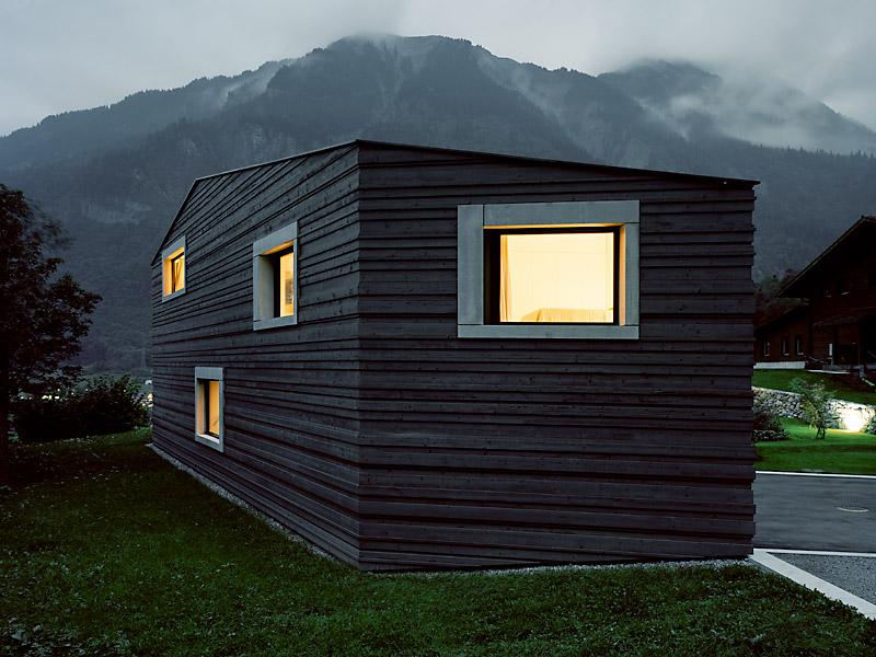 Holzfassade Schwarz roger